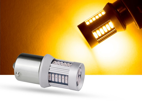 30er SMD LED Spot, BA15s, LEDR10W, orange, 6 V