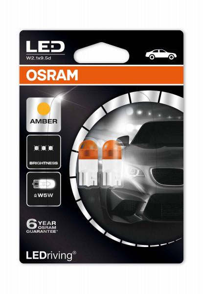OSRAM LEDrive® 1W T10 LEDWY5W, orange 2000K, Doppelblister, offroad