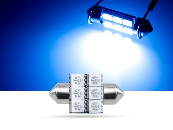 32mm 6x3-Chip SMD LED Soffitte Innenraumlicht, blau