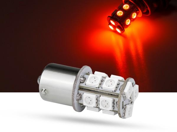 13er SMD LED Spot, BA15s, LEDR10W, rot, 9-32 V, offroad