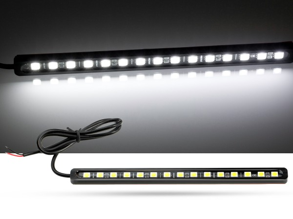 16cm LED Stripe, 15x 5050 3-Chip SMD, Innenraumlicht, 12V DC, weiss 5000K