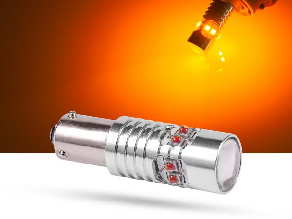 50 Watt, 10xCREE® LED, BAY9s LEDH21W, orange