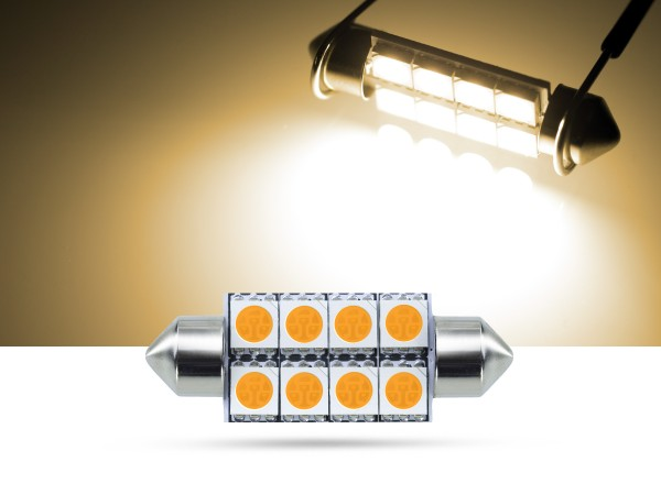 39mm 8x3-Chip SMD LED Soffitte Innenraumlicht, warmweiss