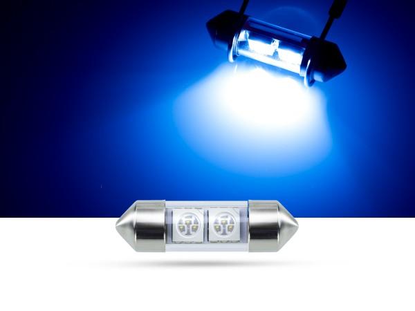 32mm 2x3-Chip SMD LED Soffitte Innenraumlicht, blau